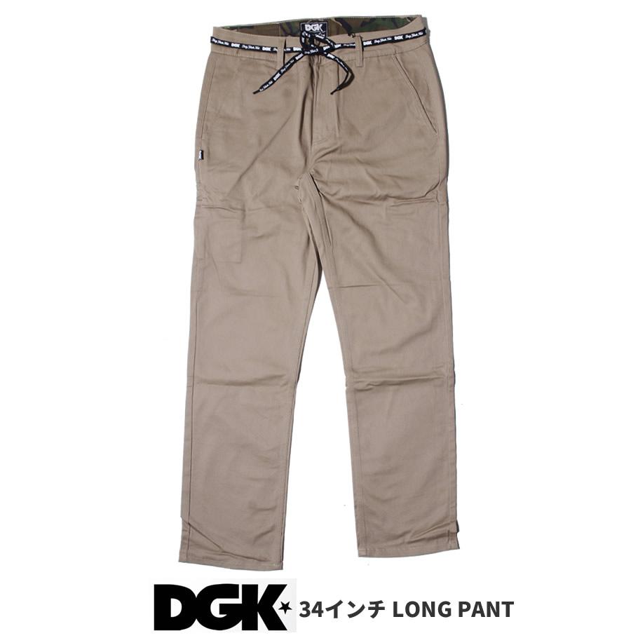 Dgk Skateboards Chino Pants Hose Street Chino Pant Dark Khaki Stretch in 34