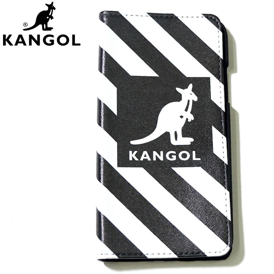 50c95444dd KANGOL カンゴール iPhone アイホンケース スマホケース 携帯カバー 手帳型 カンガルー ロゴ モノトーンカラー LCA0023  KLAT003