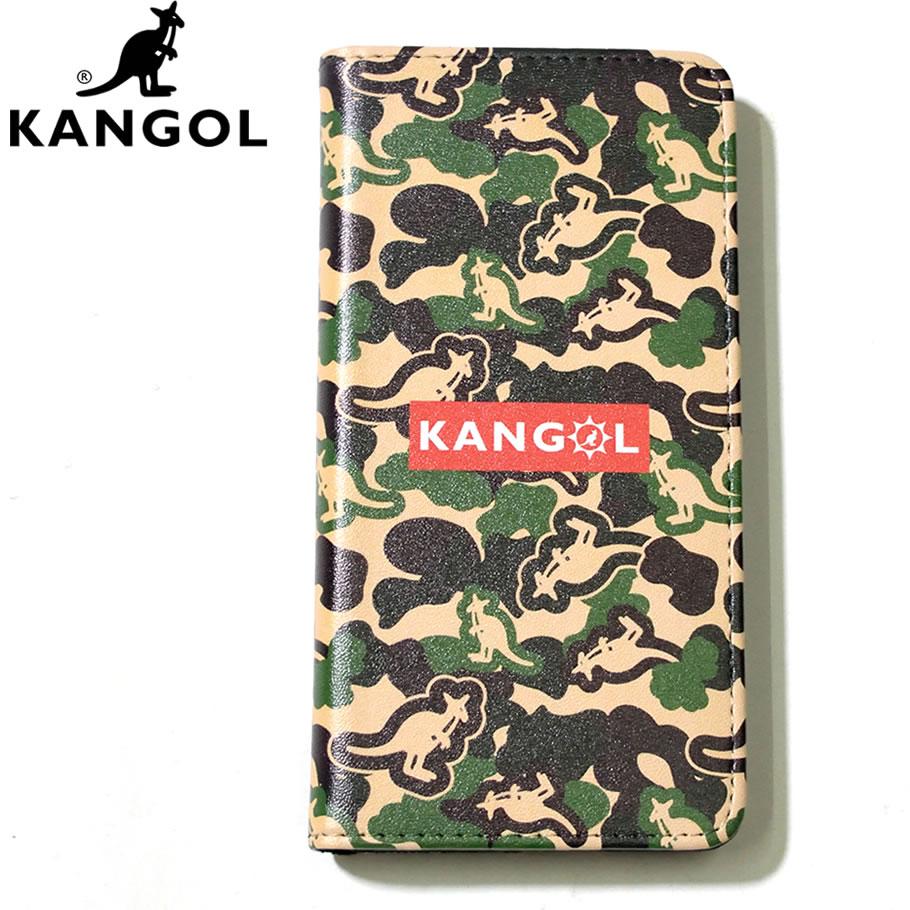 c94b0a5144 KANGOL カンゴール iPhone アイホンケース スマホケース 携帯カバー 手帳型 カンガルー 総柄 ロゴ 迷彩柄 カモフラ LCA0021  KLAT004