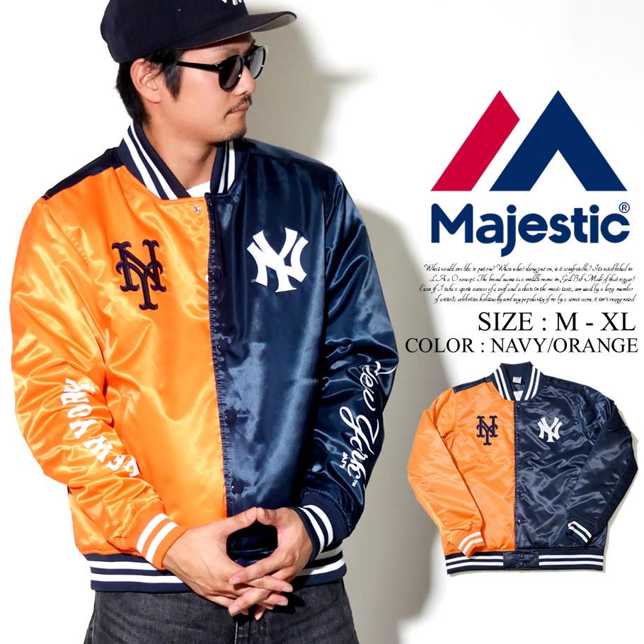 c41ab9de72c6e MAJESTIC マジェスティック サブウェイシリーズスタジャン メンズ MLB NY ロゴ NEW YORK YANKEES Mets ニューヨーク  ヤンキース メッツ ストリート系 ヒップホップ ...